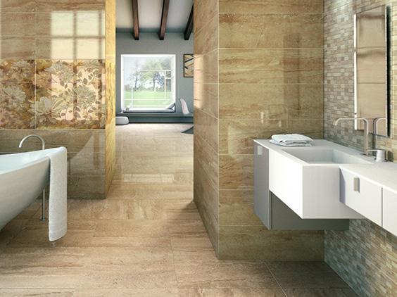 Badezimmer design fliesen grau